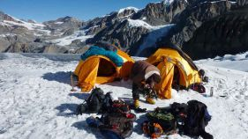 Basecamp am Mount Chulu