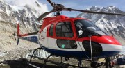 Everest Helicopter Tours, Landung am Khumbu-Gletscher